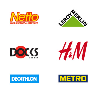 logos grande distribution